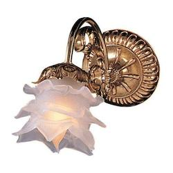 Crystorama Olde Brass Cecile 1 Light Floral Wall Sconce