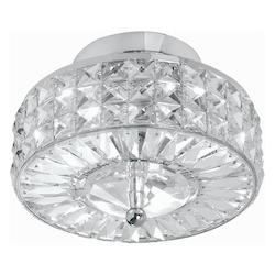 Crystorama Polished Chrome Crystal Semi-Flush Mount Ceiling Fixture