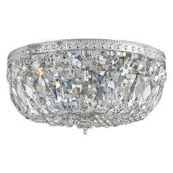 Crystorama Richmond 3 Light Chrome Crystal Flush Mount Large Bowl Ceiling Light