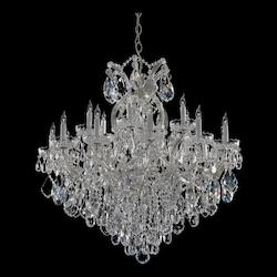 Crystorama Eighteen Light Polished Chrome Up Chandelier