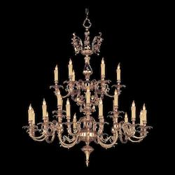 Crystorama Olde Brass Novella 24 Light 40in. Wide 2 Tier Cast Brass Candle Style Chandelier