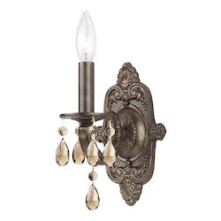 Crystorama One Light Venetian Bronze Wall Light