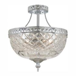 Crystorama Two Light Polished Chrome Bowl Semi-Flush Mount