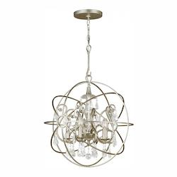 Crystorama Five Light Olde Silver Up Chandelier