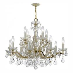 Crystorama Twelve Light Gold Up Chandelier