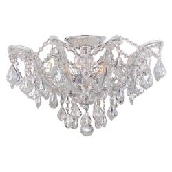 Crystorama Maria Theresa Chrome 5 Light Hand Cut Crystal Semi-Flush Ceiling Light