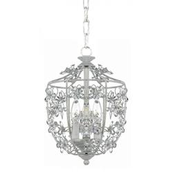Crystorama Antique White Paris Market 3 Light Pendant