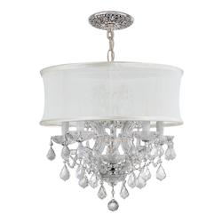 Crystorama Six Light Polished Chrome Drum Shade Chandelier