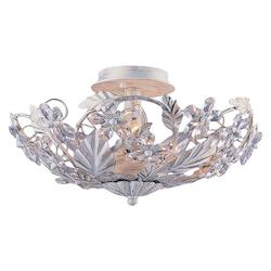 Crystorama Six Light Antique White Bowl Semi-Flush Mount