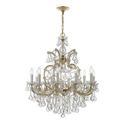 Crystorama Ten Light Gold Up Chandelier