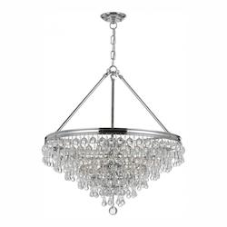 Crystorama Polished Chrome Calypso 6 Light 20in. Wide Chandelier