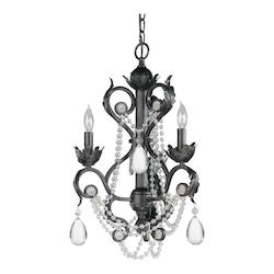 Crystorama Dark Rust Winslow 3 Light Single Tier Adjustable Chandelier