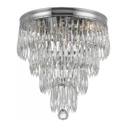 Crystorama 3 Light Flush Mount