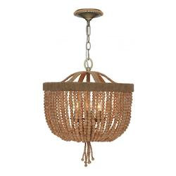 Crystorama Three Light Burnished Silver Up Chandelier