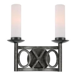 Crystorama English Bronze Odette 2 Light Double Wall Sconce