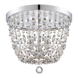 Crystorama Polished Chrome Channing 3 Light Flush Mount Ceiling Fixture