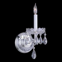 Crystorama One Light Polished Chrome Wall Light