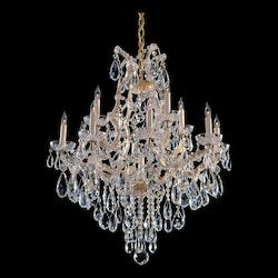 Crystorama Thirteen Light Gold Up Chandelier