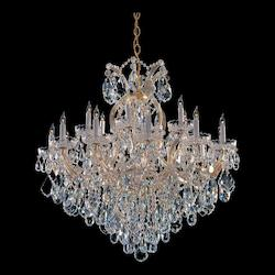 Crystorama Nineteen Light Gold Up Chandelier