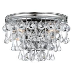Crystorama Polished Chrome / Clear Smooth Balls Calypso 2 Light Wall Sconce