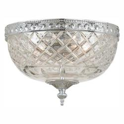 Crystorama Two Light Polished Chrome Bowl Flush Mount