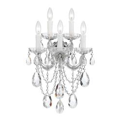 Crystorama Five Light Polished Chrome Wall Light