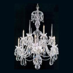 Crystorama Nine Light Chrome Up Chandelier