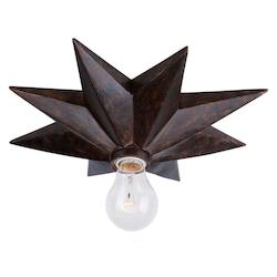 Crystorama English Bronze Astro 1 Light Flush Mount Ceiling Fixture