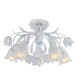 Crystorama 5 Light Semi-Flush