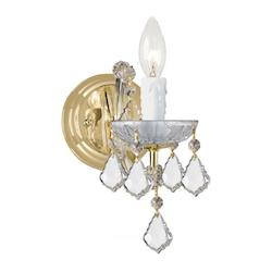 Crystorama Maria Theresa Gold 1 Light Hand Cut Crystal Wall Light Sconce