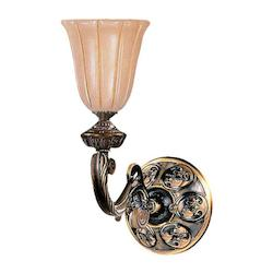 Crystorama Bronze Natural Alabaster 1 Light Wall Sconce