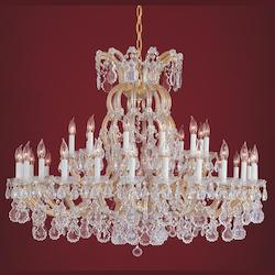 Crystorama Thirty Six Light Gold Up Chandelier