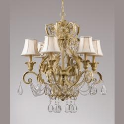Crystorama Six Light Champagne Up Chandelier