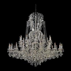 Crystorama Thirty Seven Light Polished Chrome Up Chandelier