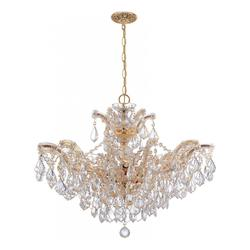 Crystorama Six Light Gold Up Chandelier