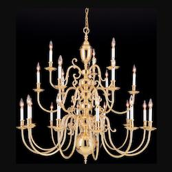 Crystorama Polished Brass Essex House 48 Light Candle Style Chandelier