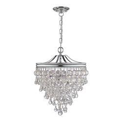 Crystorama Polished Chrome Calypso 3 Light Full Sized Pendant