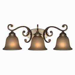 Crystorama Distressed Twilight Shelby 3 Light Wall Sconce