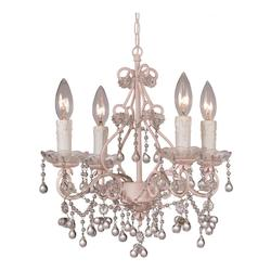 Crystorama Four Light Blush Up Mini Chandelier