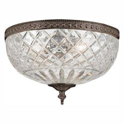 Crystorama English Bronze Richmond 3 Light Flushmount Ceiling Fixture