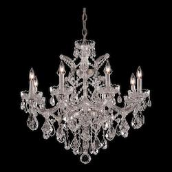 Crystorama Nine Light Polished Chrome Up Chandelier