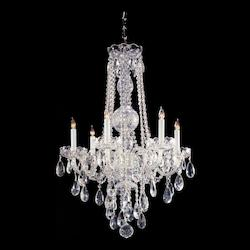 Crystorama Six Light Polished Chrome Up Chandelier