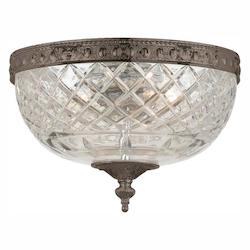 Crystorama English Bronze Richmond 2 Light Flushmount Ceiling Fixture