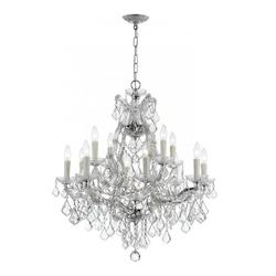 Crystorama Thirteen Light Polished Chrome Up Chandelier