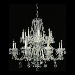 Crystorama Sixteen Light Polished Chrome Up Chandelier
