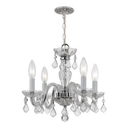Crystorama Four Light Polished Chrome Up Mini Chandelier