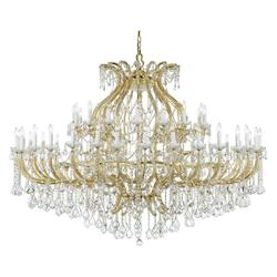 Crystorama Fourty Eight Light Gold Up Chandelier