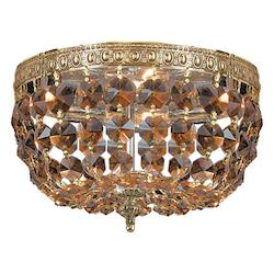 Crystorama Olde Brass Richmond 2 Light Flush Mount Ceiling Fixture
