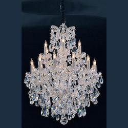 Crystorama Gold / Clear Hand Cut Maria Theresa 18 Light Two Tier Adjustable Chandelier