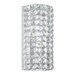 Crystorama Polished Chrome Chelsea 2 Light Wall Sconce with Clear Hand-Cut Crystals